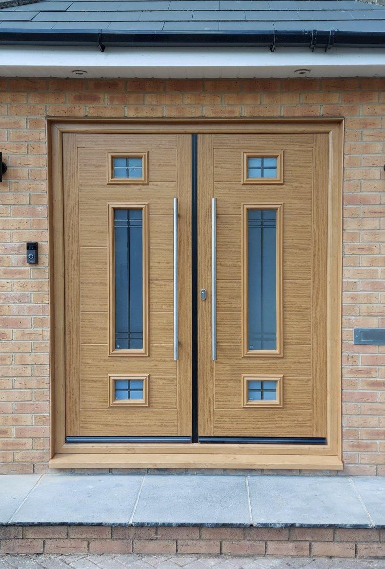 Ruislip Wood Composite Double Door