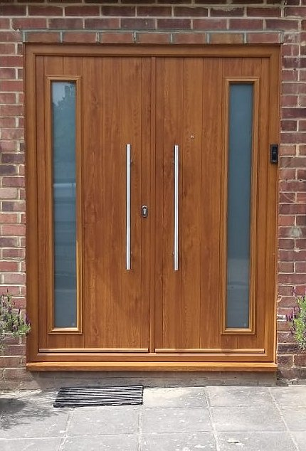 Double Black Composite Front Door Pinner