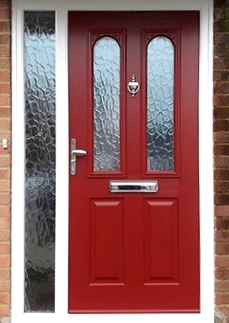 Four Panel Composite Door Red